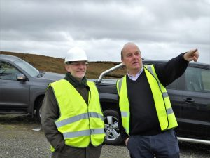 Ambassador of Denmark, Uffe A. Balslev with Eoghan Gillespie of Gweedore Wind Farm
