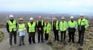 Ambassador of Denmark, Uffe A. Balslev with the Gweedore Windfarm team